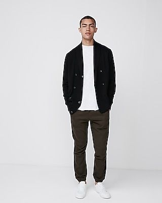 Express Mens Double Breasted Shawl Collar Cardigan