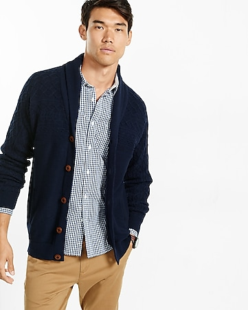 cable-yoke shawl cardigan