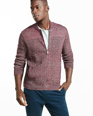 Express Mens Baseball Full Zip Cardigan Red Large 21337600