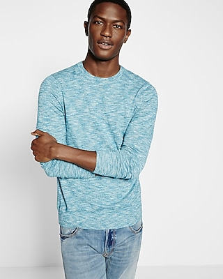 Marled Slub Cotton Crew Neck Sweater