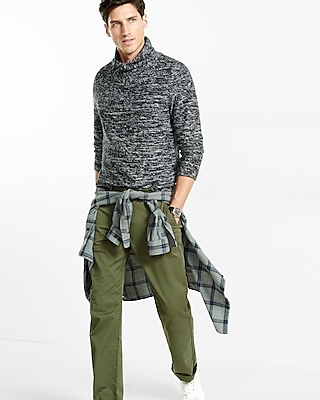 Express Mens Crossover Shawl Collar Sweater