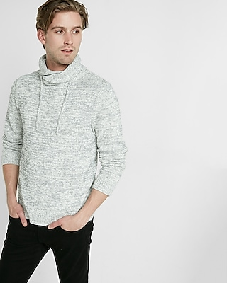 Express Mens Crossover Funnel Neck Sweater