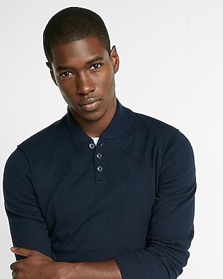 Express Mens Shawl Collar Henley Sweater