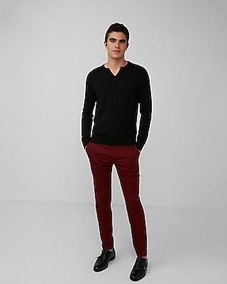 Express Mens Notch Neck Cotton Sweater