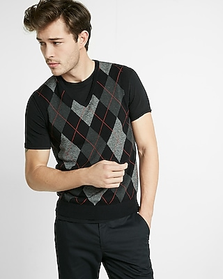 Express Mens Argyle Sweater Vest
