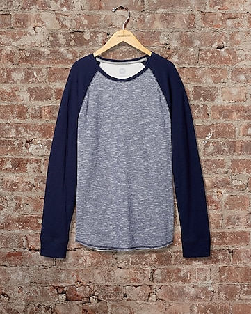 express one eleven double knit baseball tee