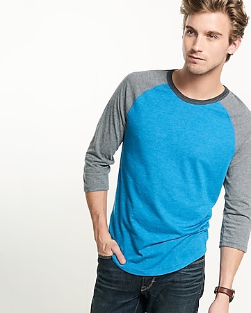 color block baseball tee