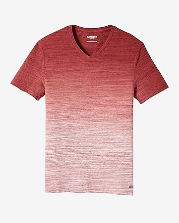 ombre v-neck t-shirt