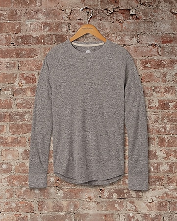 soft waffle knit crew neck tee