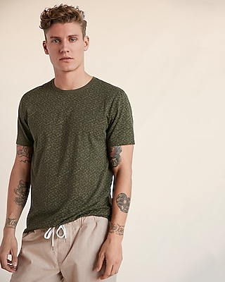 Express Mens Floral Jersey Crew Neck Tee
