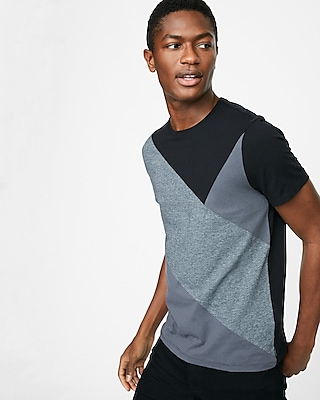 Express Mens Pieced Crew Neck Tee