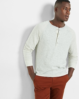 Express Mens Double Knit Raglan Henley