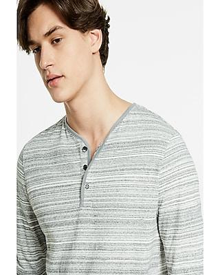 Express Mens Striped Jersey Long Sleeve Henley