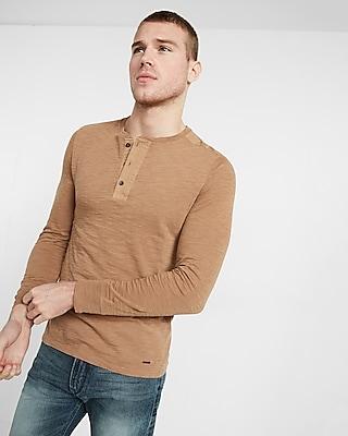 Express Mens Garment Dyed Jersey Henley