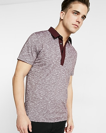 marled signature polo