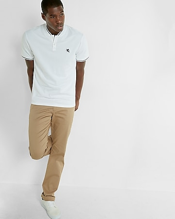 stretch small lion pique polo