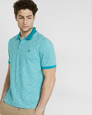 Textured Small Lion Pique Polo