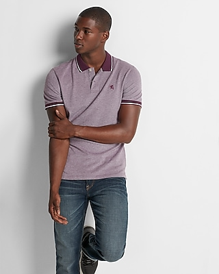 Tipped Small Lion Stretch Pique Polo