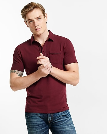 piped signature polo