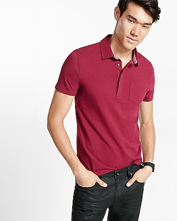 hidden placket signature polo