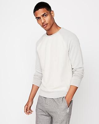 Express Mens Terry Crew Neck Sweatshirt White Men's Xl White XL 13664329