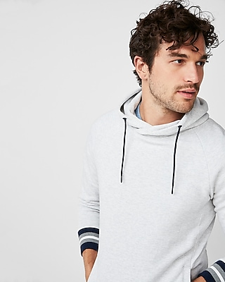Express Mens Tipped Crossover Hoodie