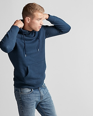 Express Mens Fleece Popover Hooded Sweatshirt
