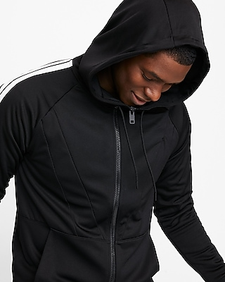 Express Mens Striped Sleeve Full Zip Hoodie