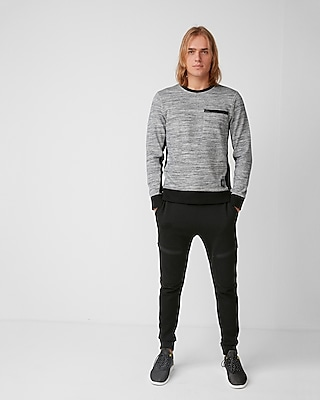 Express Mens Marled Knit Crew Neck Tee