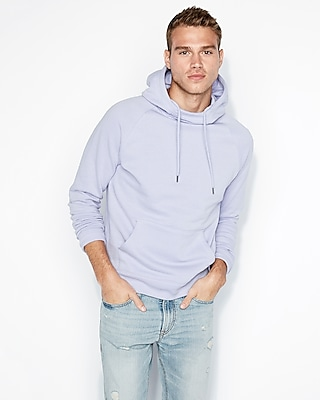 Express Mens Garment Dyed Funnel Neck Hoodie