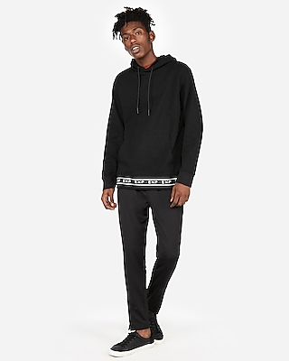 Express Mens Double Knit Exp Popover Hoodie