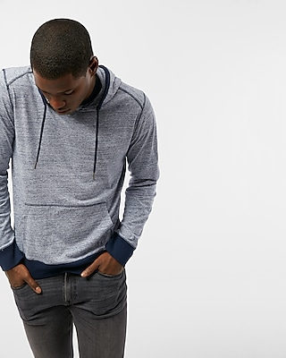 Express Mens Heathered Long Sleeve Hoodie
