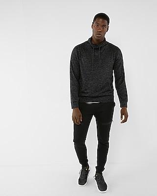 Express Mens Plush Jersey Funnel Neck Sweatshirt
