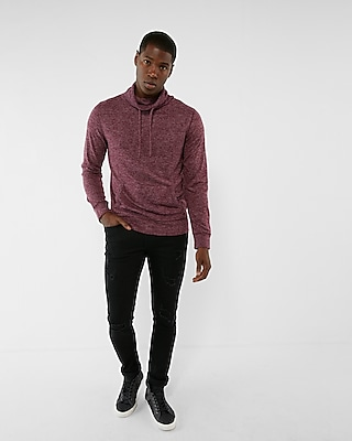 Express Mens Plush Jersey Funnel Neck Sweatshirt