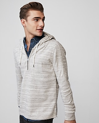 Express Mens Textured Quarter Zip Hoodie