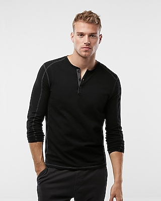 Express Mens Piped Tech Signature Henley