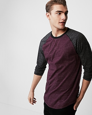 Express Mens Eco-Friendly Crew Neck Baseball Tee