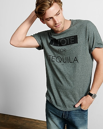 gray vote for tequila graphic t-shirt