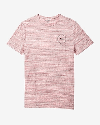Express Mens Space Dye Flag Circle Graphic T-Shirt