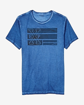 Express Mens Stitched Exp Graphic Tee