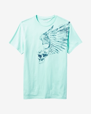 Express Mens Wing Skull Graphic Tee