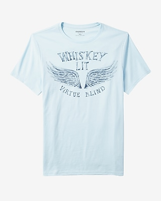 Express Mens Whiskey Lit Graphic Tee