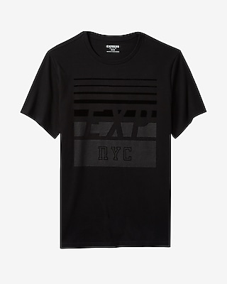 Express Mens Exp Nyc Textured Graphic Tee