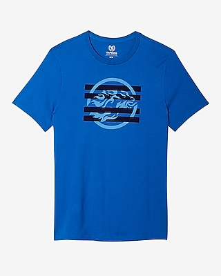 Express Mens Bright Lion Crew Neck Graphic Tee