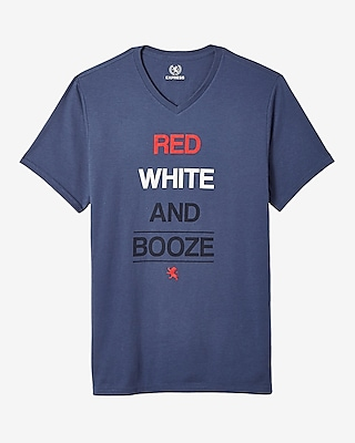 Fourth Of July Red White And Booze Graphic Tee 11941040