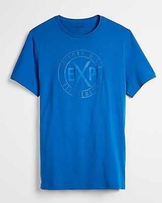 Express Mens Blue Exp Graphic Tee