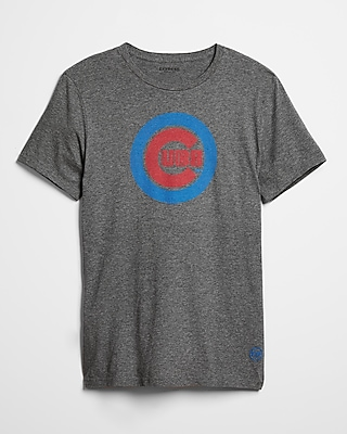 Express Mens Chicago Cubs Crew Neck Tee
