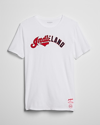 Express Mens Cleveland Indians Crew Neck Tee