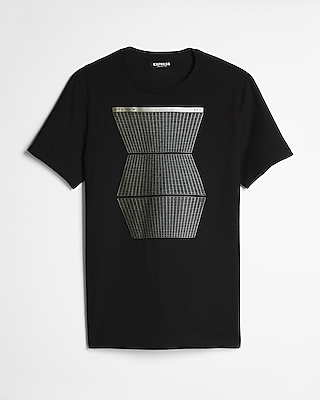 Express Mens Geo Grid Graphic Tee