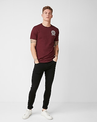 Express Mens Geo Sphere Crew Neck Graphic Tee
